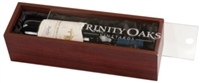 Rosewood Finish Wine Box with Clear Acrylic Lid