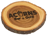 "Personalized 4"" Wood Coaster"