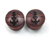 "Pair of ""Love & Anchor"" Organic Plugs"