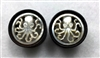 "Pair of Handmade ""Octopus"" Carved Organic Tunnels"