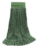 Microfiber Wet Mop - Hybrid - Medium Green 5 Inch Band - Case of 35