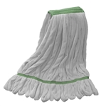 Microfiber Wet Mop - White - Medium 1 1/4 Inch Band - Case of 35