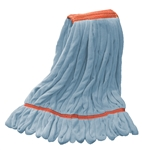 Microfiber Wet Mop - Blue - Large 1 1/4 Inch Band - Case of 30