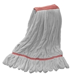Microfiber Wet Mop - White - Large 1 1/4 Inch Band - Case of 30