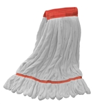 Microfiber Wet Mop - White - Large 5 Inch Band - Case of 30