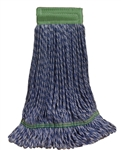 Microfiber Wet Mop - Hybrid - Medium Blue 5 Inch Band