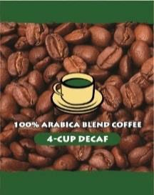 Arabica Blend Decaffeinated 4 Cup Coffee FilterPack