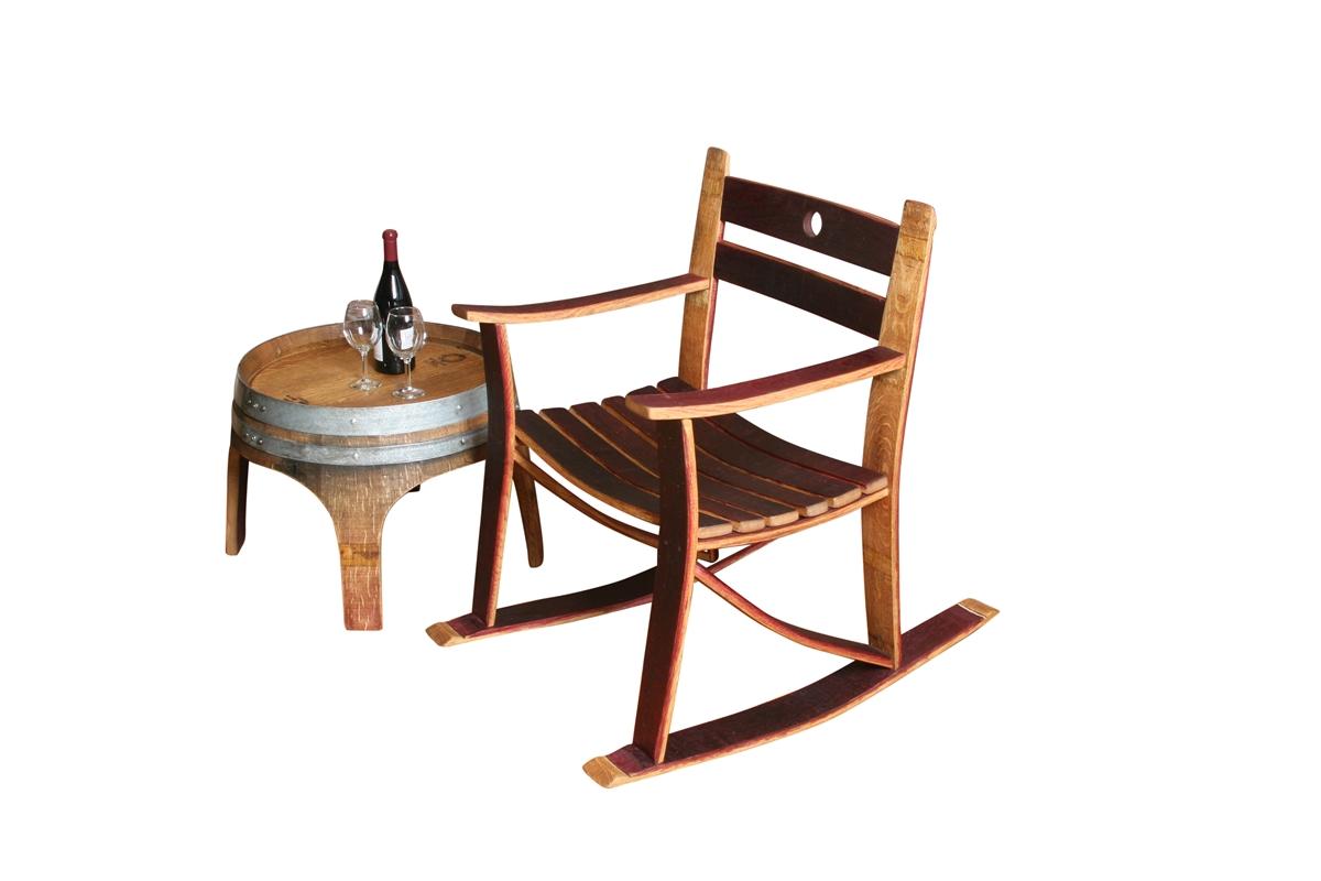 Wine Barrel Stave Rocker or Chair  Go Wine Barrels