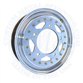 Zero offset front wheels. 3.75 inches wide with 4 inch backspacing. Unlike the Erco zero offset wheel, this wheel will clear the empi wide 5 lug front brake kits calipers. 4 lug VW and Porsche patterns will need a spacer to clear oe style vw disc brake ca
