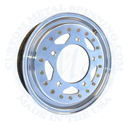 Zero offset front wheels. 3.75 inches wide with 4 inch backspacing. Unlike the Erco zero offset wheel, this wheel will clear the empi wide 5 lug front brake Deano Dyno Soar (DDS) Alum-A-Lite  douglas centerline cms weld