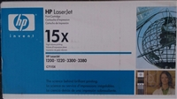 HP 15X, (C7115X) High Yield Black Original LaserJet Toner Cartridge (B Stock) blue