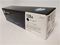 HP 128A, Black Original Toner Cartridge (CE320A) Bstock
