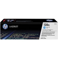 HP 128A, Cyan Original Toner Cartridge (CE321A)