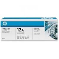 HP 12A Black Original Toner Cartridge (Q2612A) Bstock blue