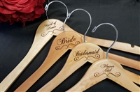 Bridal Party Engraved Hangers