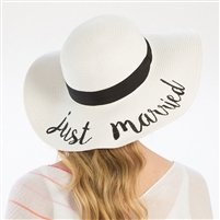 Just Married Floppy Beach Hat