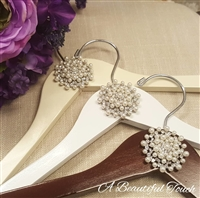 Beautiful Pearl and Crystal Brooch Hangers