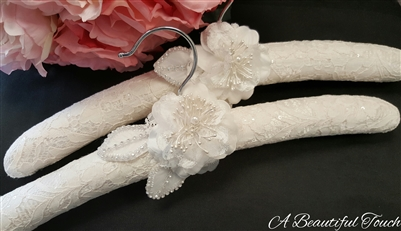 Lace Fabric with Floral Detail Hanger