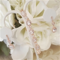 Elegant CZ Earrings and Bracelet