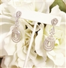 CZ chandelier earrings