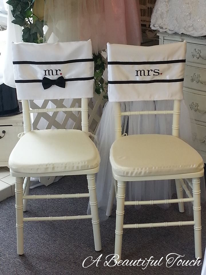 & Mr. and Mrs. Whimsical Chair Cover Rentals