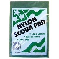 SCOUR PAD, 6 IN X 9 IN, GREEN 2PK