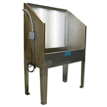 CCI Stainless Steel Backlit Washout Booth