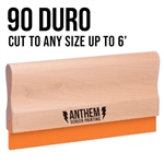 Custom Cut Wooden Squeegee - 90 Duro
