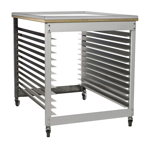 Rolling Ink Cart and Screen Rack