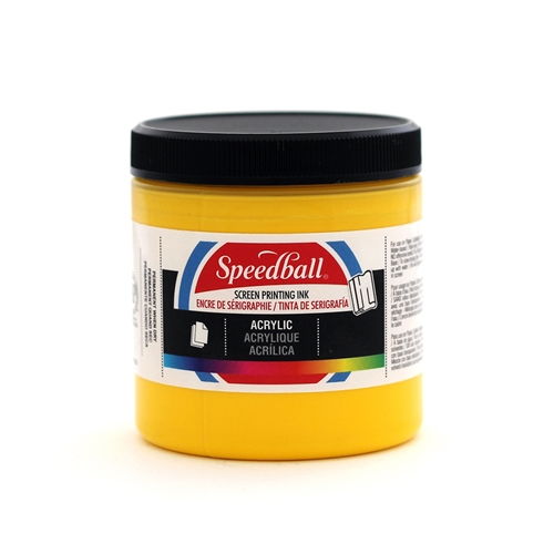 Speedball Acrylic Ink - Medium Yellow - 8 oz.