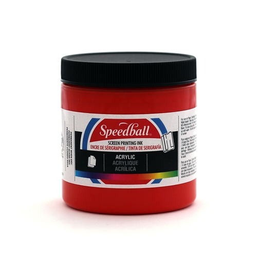 Speedball Acrylic Ink - Medium Red - 8 oz.