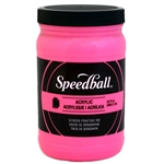 Speedball Acrylic Ink - Fluorescent Hot Pink - 32 oz.