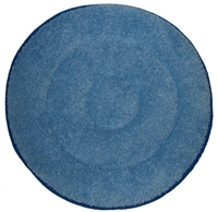 "17"" Blue Microfiber Carpet Cleaning Bonnet"