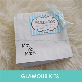 PERSONALISED MR& MRS CANDY BAGS - STRIPE