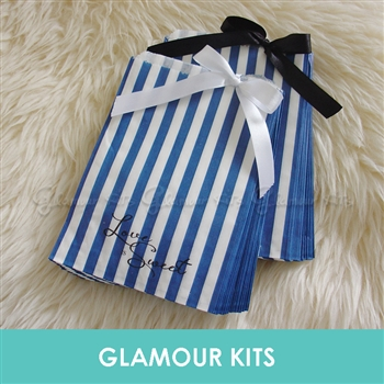LOVE IS SWEET BLUE STRIPED RETRO CANDY BAGS