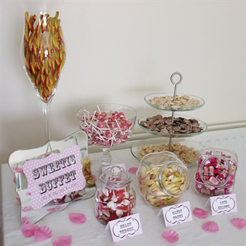 50 GUESTS PERSONALISED SWEETIE TABLE BUFFET HIRE WEDDING