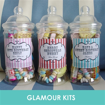 PERSONALISED RETRO SWEET JAR