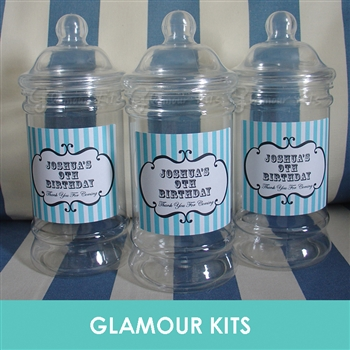 PERSONALISED RETRO SWEET JAR - EMPTY