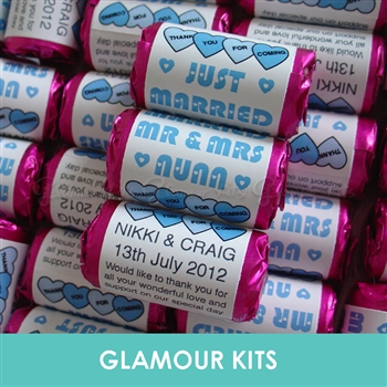 100 ROLLS PERSONALISED MINI LOVE HEART SWEETS- BABY BLUE