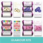 PERSONALISED MINI LOVE HEART SWEETS-2 SWEETS SAMPLE PACK