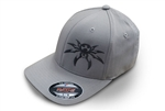 Spyder Logo FlexFit Ball Cap - Light Gray - Large/X-Large