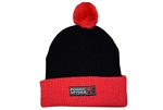 Poison Spyder Logo Pom Beanie - Black & Red