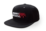 Poison Spyder Logo Flatbill Snap-Back Hat - Black - Puff