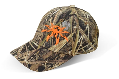 Spyder Logo Adjustable Ball Cap - Orange on Mossy Oak Camo