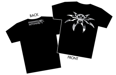 """Snow Camo Spyder"" Black T-Shirt - Men - Small"