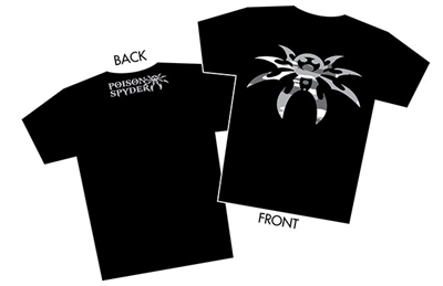 """Snow Camo Spyder"" Black T-Shirt - Men - Medium"