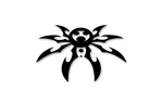"Small Spyder Decal 2-1/4"" X 3-1/2"" - Black"