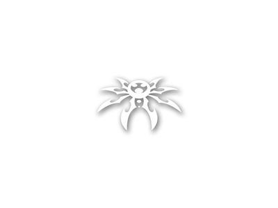 "Small Spyder Decal 2-1/4"" X 3-1/2"" - White"