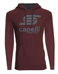 Youth Capelli Sport Maroon LOGO Hoodie