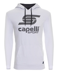 Youth Capelli Sport White LOGO Hoodie